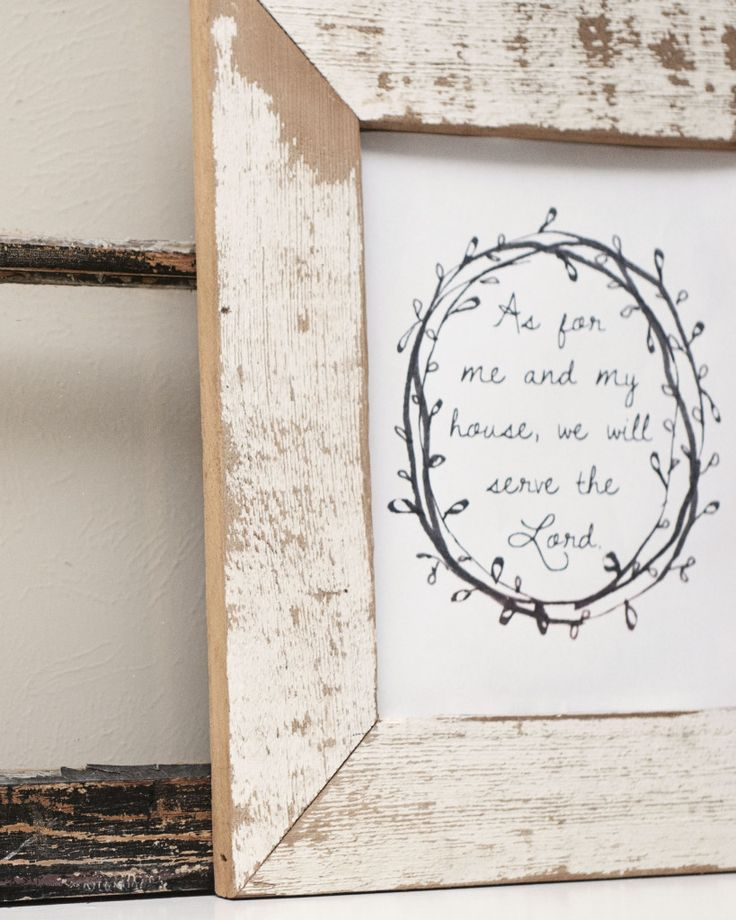 As for me and my house, we will serve the Lord Free Printable - Raising our Home