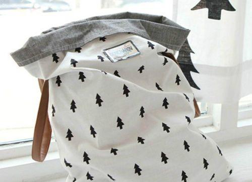Petits-arbres-noir-100-coton-toile-toutes-tailles-tissu-off-coupes-F4-179
