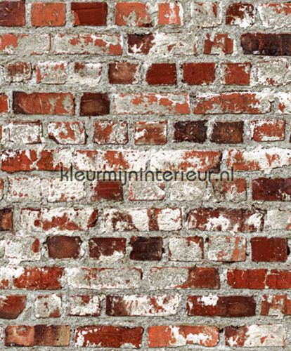 Verweerde bakstenen muur J714-08 | behang Just like it van Dutch Wallcoverings | kleurmijninterieur.nl