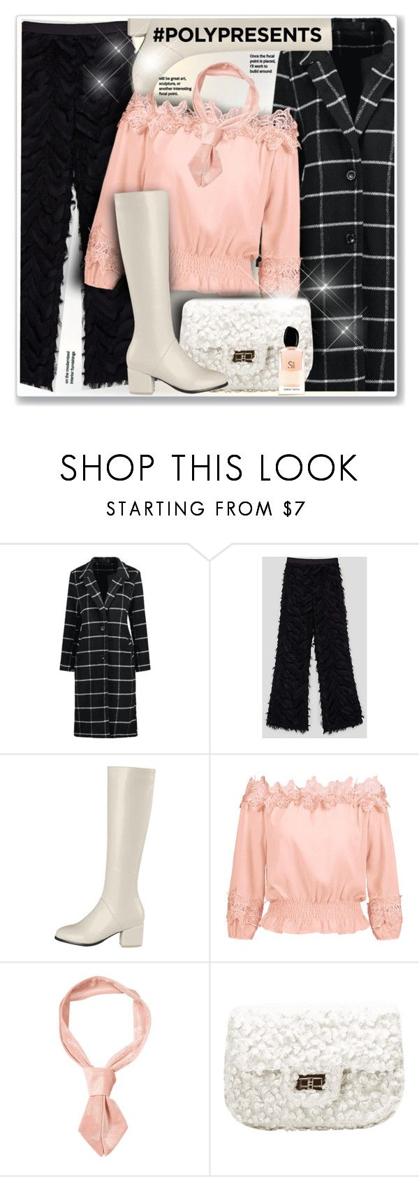 """""""#PolyPresents: Fancy Pants"""" by sneky ❤ liked on Polyvore featuring Armani Beauty, contestentry and polyPresents"""