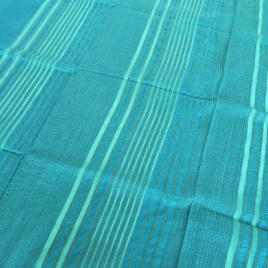 zijden sjaal handgeweven india delphinium_khadi katoen