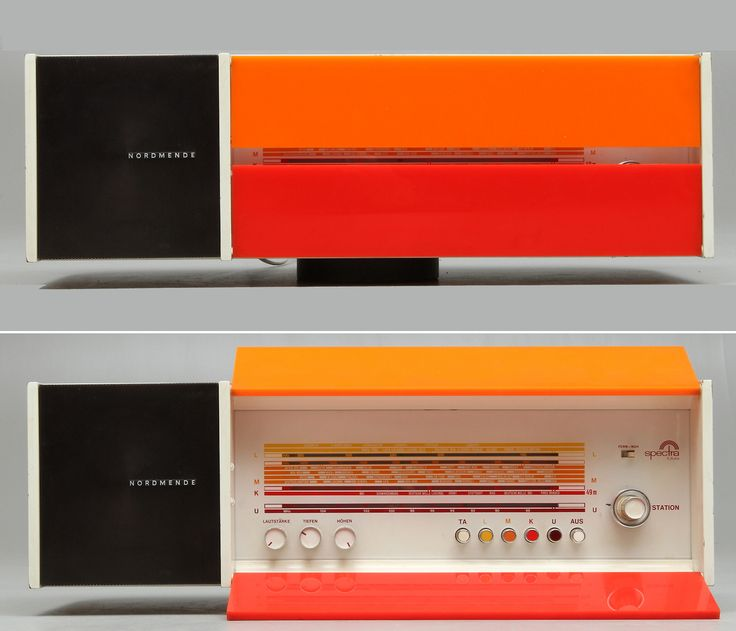 Nordmende Spectra Futura S with seperate speakers,Design by Raymond Loewy in 1968