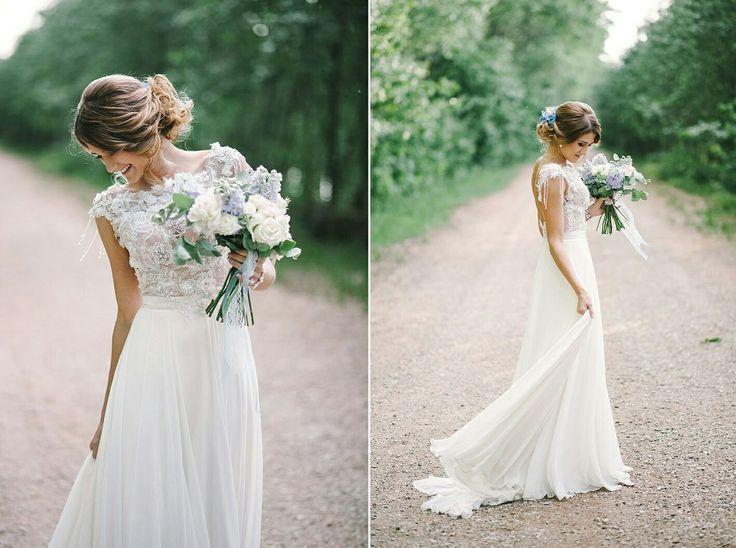 Невеста в свадебном наряде: свадебный образ невесты в платье от салона Кураж