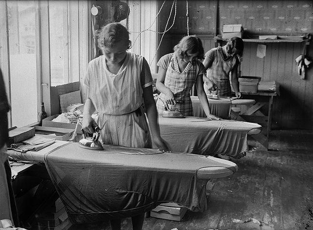 Silon työntekijöitä 1930-luvulla. Turun Museokeskus