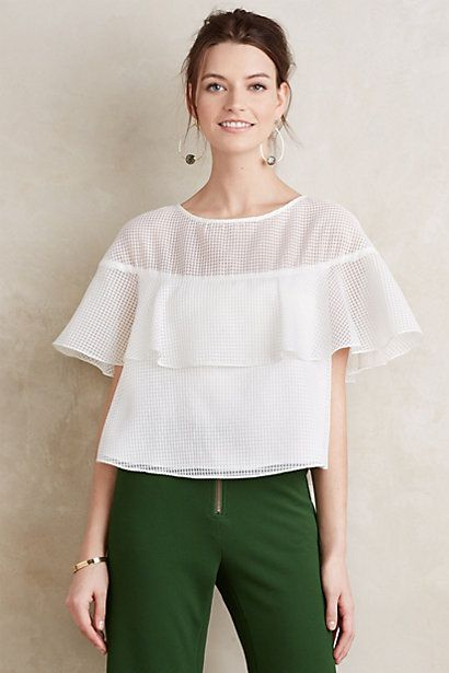 Lace Canopy Blouse #anthropologie
