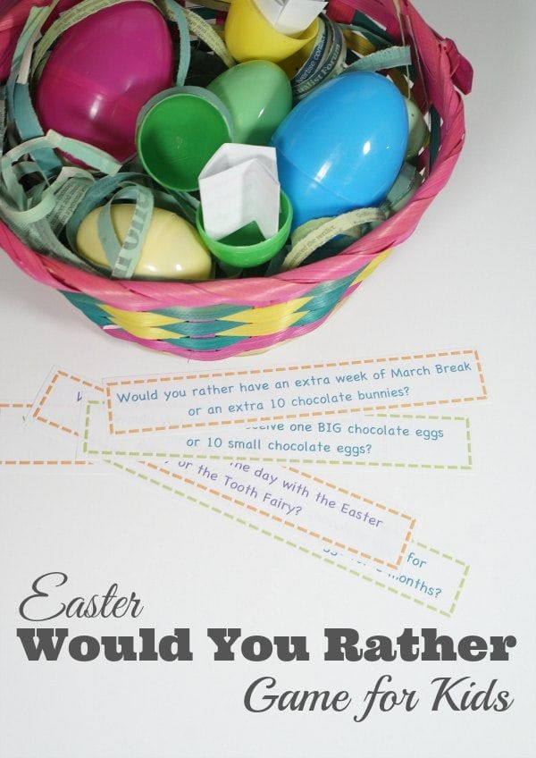 Would You Rather Easter Edition For Kids