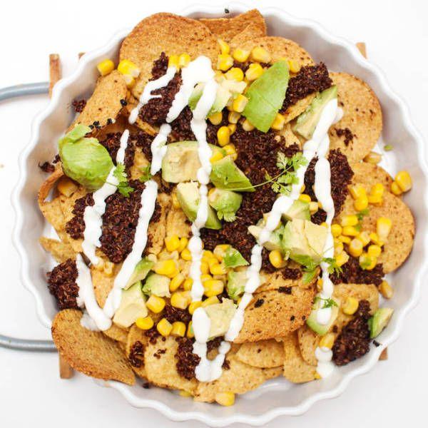 """Nachos med quinoa""""kjøtt"""""""