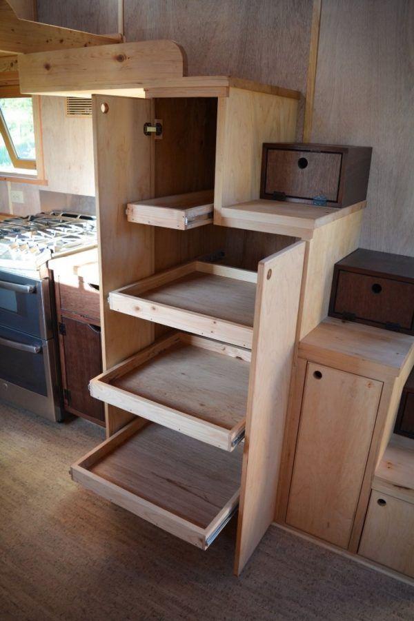 80 best Tiny House Storage Ideas images on Pinterest Tiny house - under stairs kitchen storage