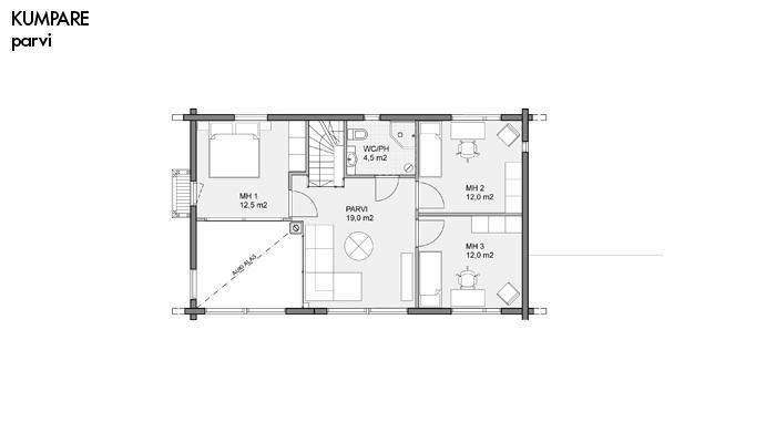 Kumpare layout floor 2 | Honka Finland
