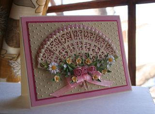Craftynikky Tattered lace fan