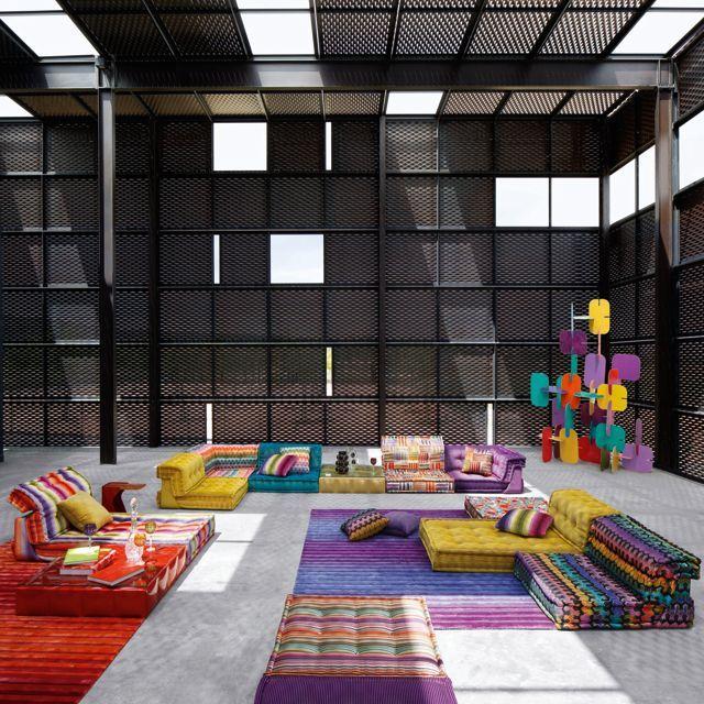 Modulares Sofa In Elementen, Gepolstert In Stoff. Endlose  Kombinationsmöglichkeiten. Beinhaltet Sitzkissen (95 X 95 X H.19 Cm),  Gerade Rückenteileu2026