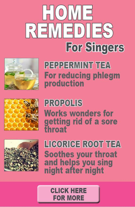 All natural home remedies specifically for singers. No more sore throats…