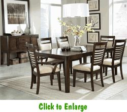 Shop For The Standard Furniture Avion 7 Piece Dining Table Set At Powells And Mattress
