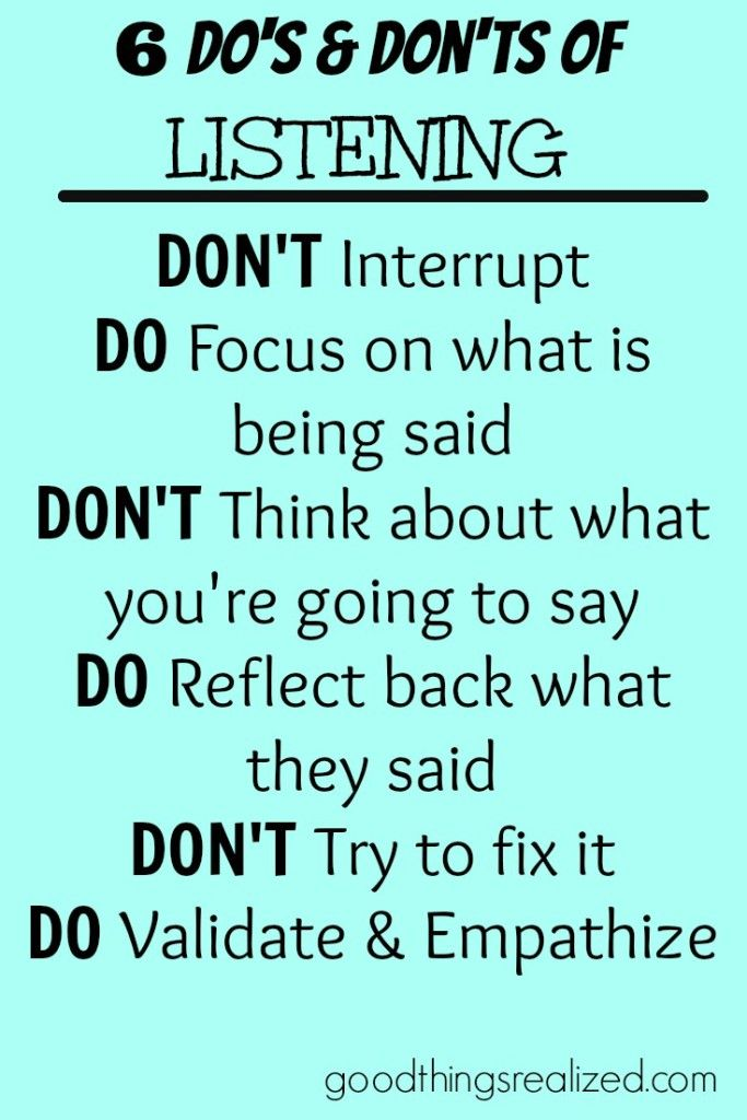 The best ways to listen and how not to listen.