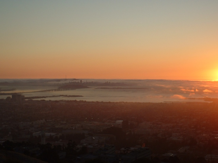 Sunset view from Berkeley