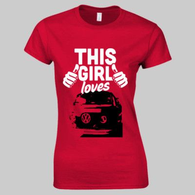 This Girl Loves Bay Window VW Camper T Shirt