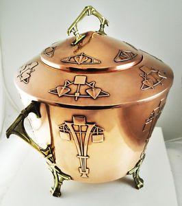 WMF Arts&Crafts Movement Punch Bowl Copper Brass Art Deco Nouveau Antique Vintag | eBay