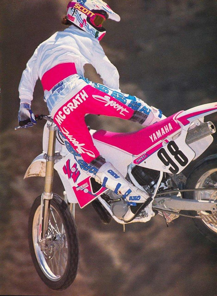 Jeremy McGrath, back in his 125 days. He was an accomplished BMX racer before his Supercross Career.