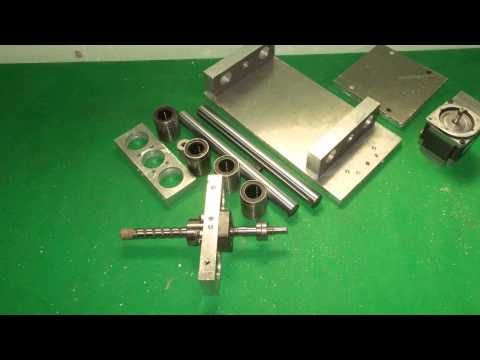 Homemade CNC Projects DIY X Y Z Axis Slide Wood Mill Router Machine Home...