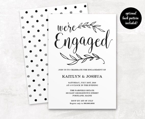 The 25 best Engagement invitation template ideas – Template Invitation