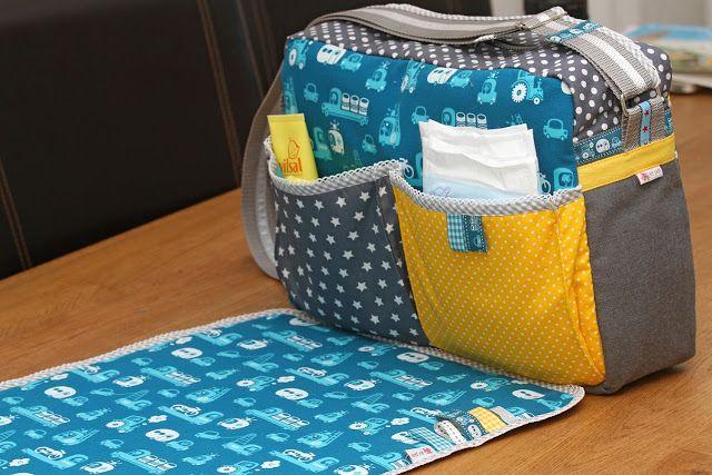 Jip by Jan: Luiertas klaar! | Diaperbag is ready! (luiertasje maken met tafelzeil)