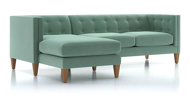 Aidan Velvet Olive Green Sectional Sofa