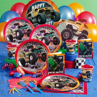 I have a feeling this will be Noah's birthy theme this year!  We already did Star Wars twice.  Monster Jam Birthday Party Theme
