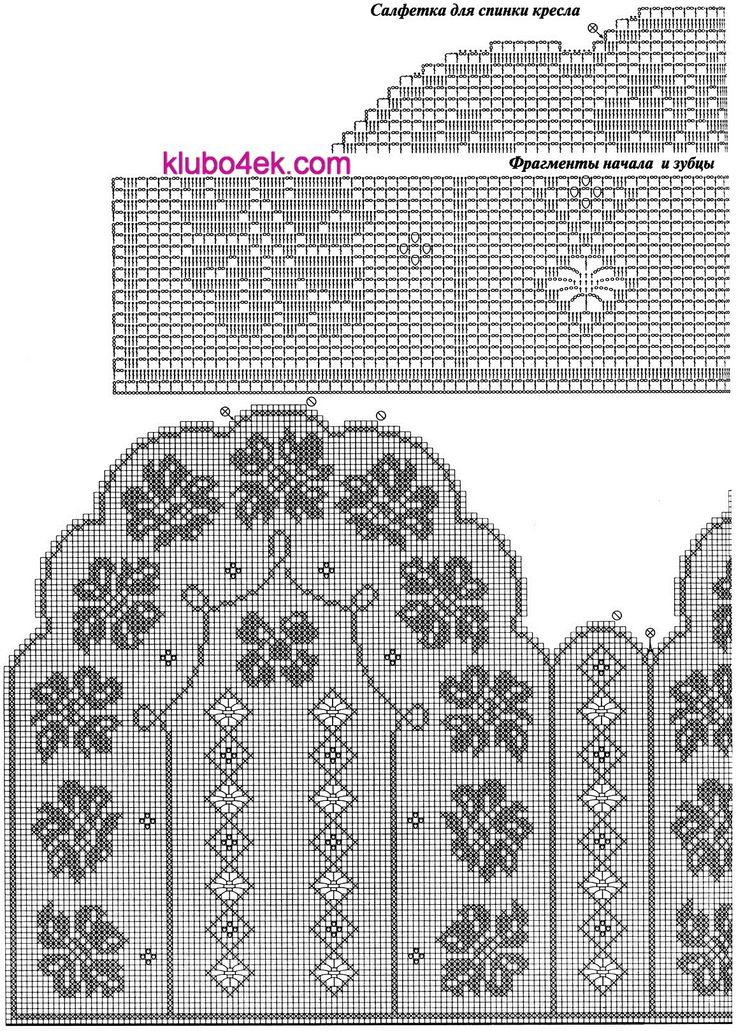 Схемы вязания салфетки крючком