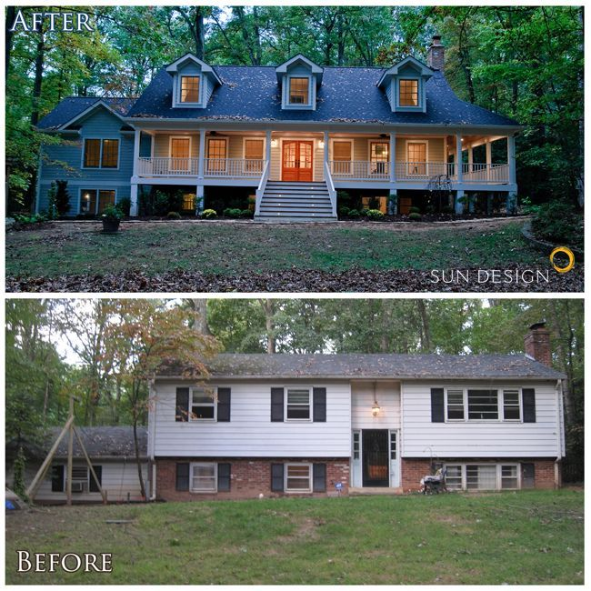very attractive nu home design.  If I can t find a house with porch may add one This home was transformed from split foyer into colonial by adding an addition onto the 520 best Duplex images on Pinterest House blueprints Modern