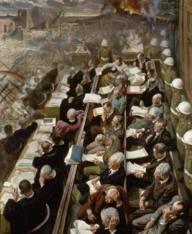 The Nuremberg Trials by Dame Laura Knight