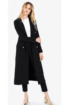 İroni Kadın Siyah Blazer Uzun Ceket https://modasto.com/ironi/kadin-dis-giyim/br3249ct54