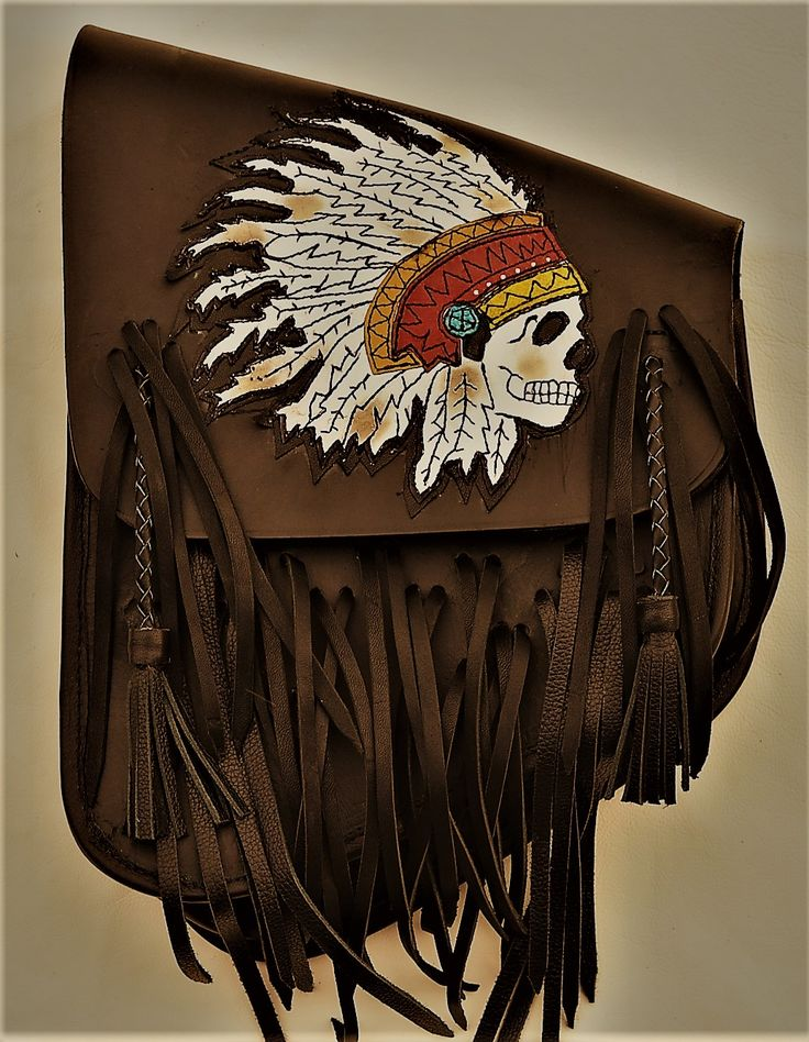 Motorcycle Indian Chief Skull Swing Arm Bag