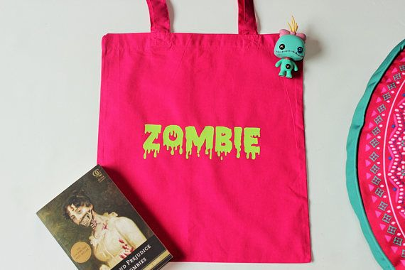 Zombie tote bag Cotton bag Reusable shopping bag Eco tote
