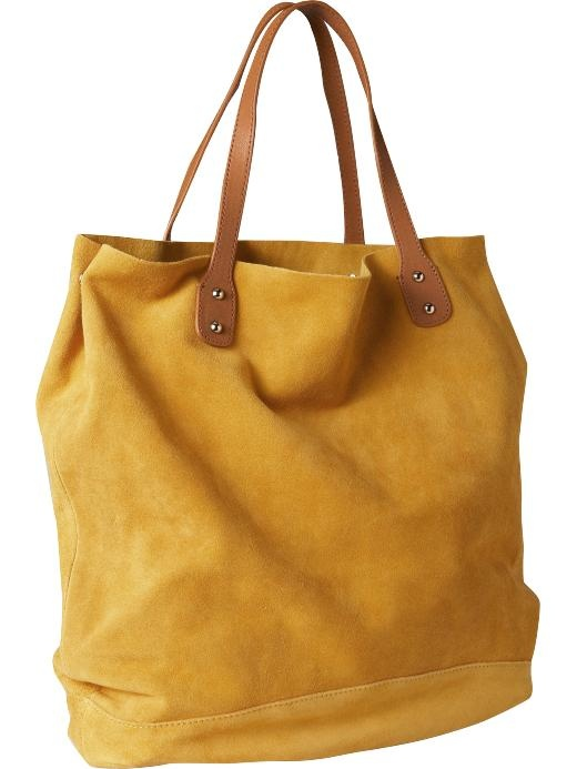 Suede tote at Gap. see? i can do other colours except brown. but i am defaulting to brown in most cases. the bag must always be brown. i could explain, but i won't.