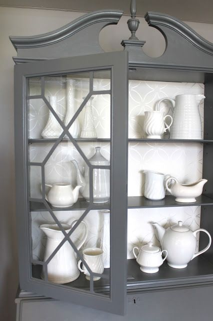 I'm in love with grey furniture and cabinetry and I don't know why...