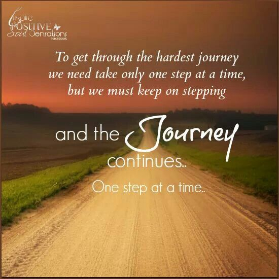 One Step At A Time Inspirational Quotes