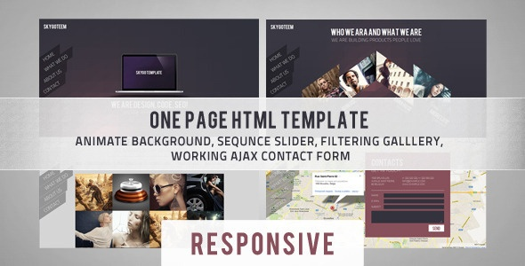 Skygo One Page HTML Template