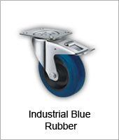Blue Rubber Castors