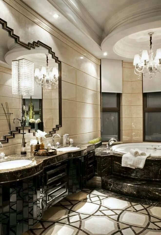 Luxurious bathroom. Beautiful floors  Micoley's picks for #luxuriousBathrooms www.Micoley.com