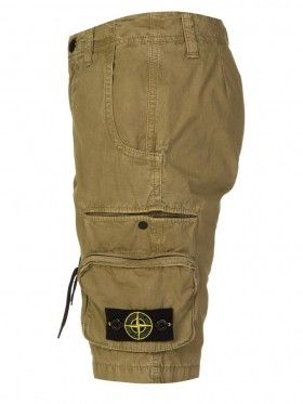 Stone Island Junior Khaki Green Combat Shorts