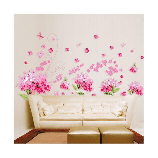 Hemdekor - Väggdekor Rosa blomster