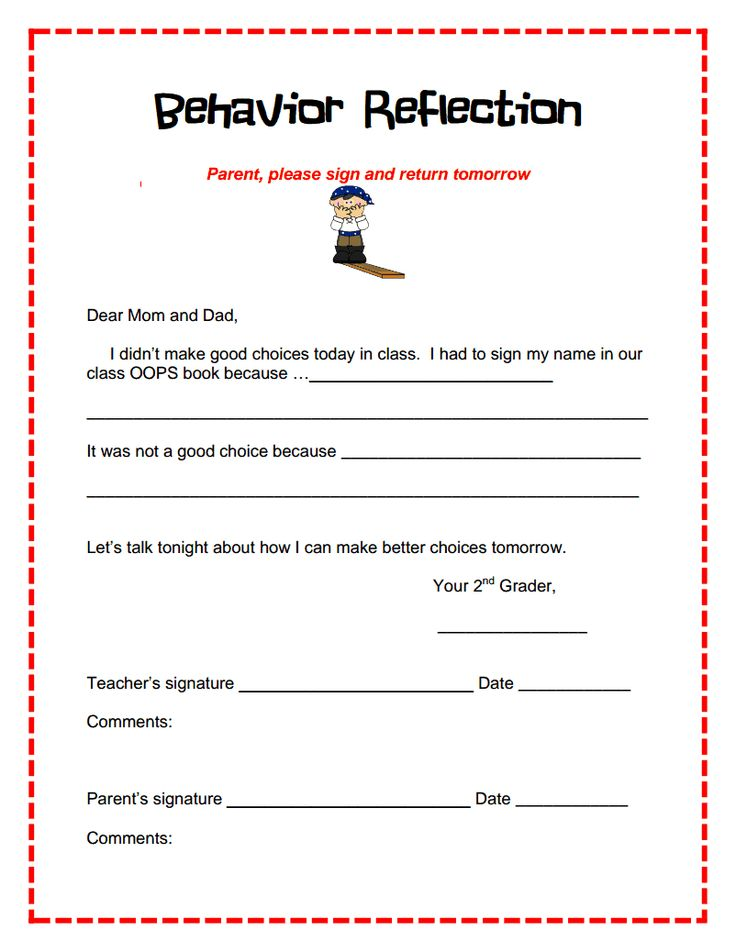 11 best behaviour management reflection sheets incident forms - incident report template