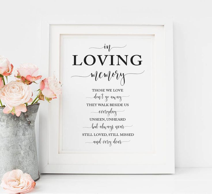 In Loving Memory Sign, Wedding Memorial Candle Sign, In Memory of Wedding Sign, Forever in Our Hearts Sign, Remembrance wedding sign by PaperTigressBoutique on Etsy https://www.etsy.com/listing/481563111/in-loving-memory-sign-wedding-memorial