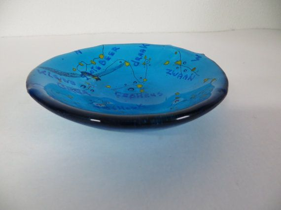 blue Bowl with starry sky Galaxy in common by madebymirjam on Etsy