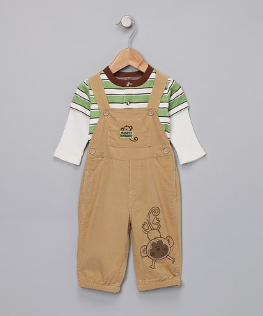 Love little boys clothes with monkeys :) One day I'll have my ownGreen Layered, Layered Tees, Monkeys, Baby Togs, Baby Boys, Khakis Overalls, Stripes, Infants, Zulily Today