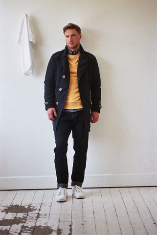 GERALD TRENCH COAT, REGINALD ATHLETIC SWEAT & STANLEY LONG SLEEVE SHIRT