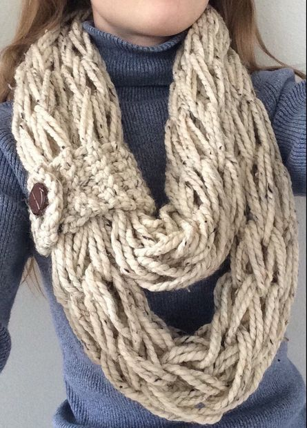 Picture of How to Arm Knit: Step-by-Step Instructions