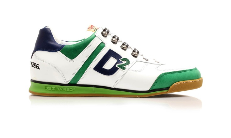 Leather sneakers, with anatomical bicolor rubber sole by Dsquared