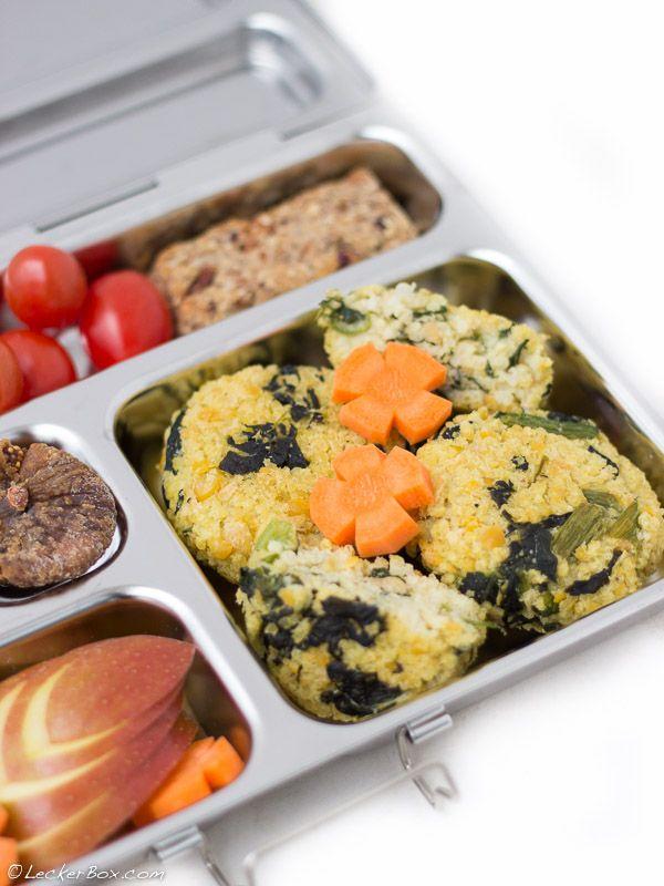 Die Mädchenküche kocht #5: Hirsebratlinge mit Spinat und Kichererbsen...