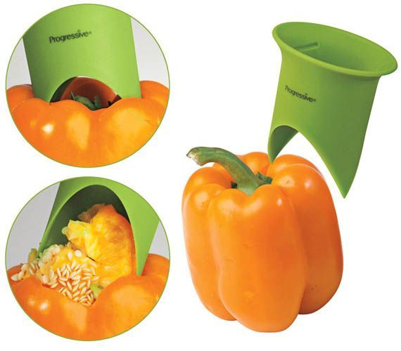 Kitchen Gadget Pepper Fruit Gutter (gadgets, Ideas, Inventions, Cool, Fun,